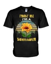 TRUST ME I'M A SUNFLOWER V-Neck T-Shirt thumbnail