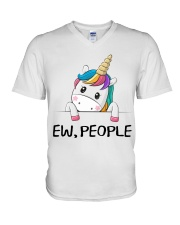 EW PEOPLE UNICORN V-Neck T-Shirt thumbnail