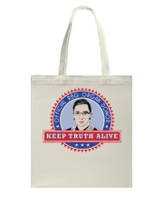 OFFICIAL RBG ORGAN DONOR KEEP TRUTH ALIVE Tote Bag thumbnail