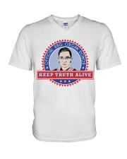 OFFICIAL RBG ORGAN DONOR KEEP TRUTH ALIVE V-Neck T-Shirt thumbnail