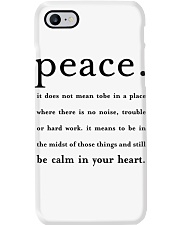PEACE BE CALM IN YOUR HEART Phone Case thumbnail