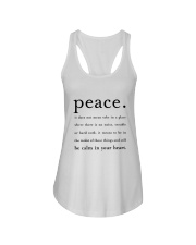 PEACE BE CALM IN YOUR HEART Ladies Flowy Tank thumbnail