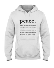 PEACE BE CALM IN YOUR HEART Hooded Sweatshirt thumbnail