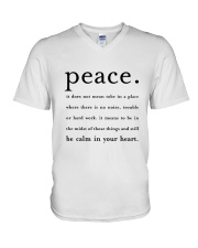 PEACE BE CALM IN YOUR HEART V-Neck T-Shirt thumbnail