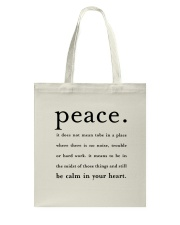 PEACE BE CALM IN YOUR HEART Tote Bag thumbnail