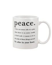 PEACE BE CALM IN YOUR HEART Mug thumbnail