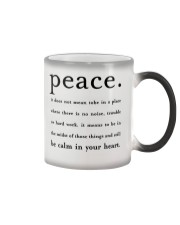 PEACE BE CALM IN YOUR HEART Color Changing Mug thumbnail