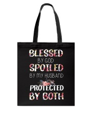 BLESSED BY GOD SPOILED BY MY HUSBAND  Tote Bag thumbnail