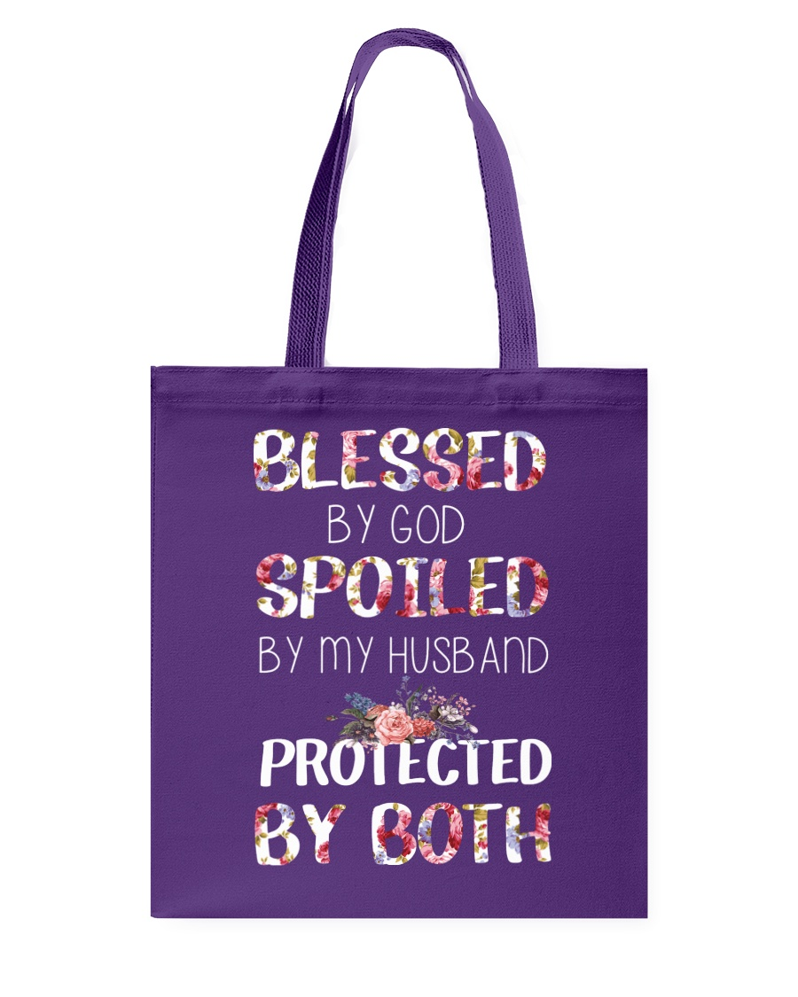 BLESSED BY GOD SPOILED BY MY HUSBAND  Tote Bag