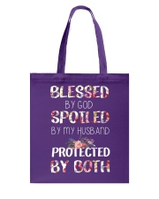 BLESSED BY GOD SPOILED BY MY HUSBAND  Tote Bag front