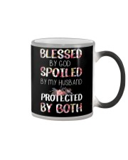 BLESSED BY GOD SPOILED BY MY HUSBAND  Color Changing Mug thumbnail