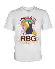 I BELIEVE IN RBG V-Neck T-Shirt thumbnail