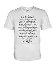 MY HUSBAND V-Neck T-Shirt thumbnail