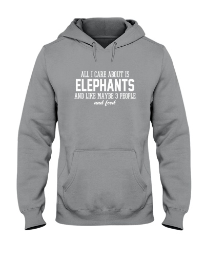 ALL I CARE ABOUT IS ELEPHANTS AND LIKE 3 PEOPLE