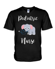 PEDIATRIC NURSE ELEPHANTS V-Neck T-Shirt thumbnail