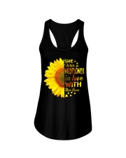 SHE WAS A WILDFLOWER IN LOVE WITH THE SUN Ladies Flowy Tank thumbnail