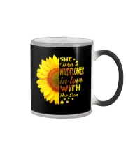 SHE WAS A WILDFLOWER IN LOVE WITH THE SUN Color Changing Mug thumbnail