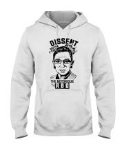 DISSENT MUTHA FCKAS THE NOTORIOUS RBG Hooded Sweatshirt front