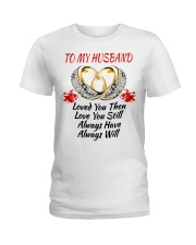 TO MY HUSBAND I ALWAYS LOVE YOU Ladies T-Shirt tile