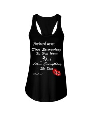 HUSBAND MEANS DOES EVERYTHING HIS WIFE WANTS Ladies Flowy Tank thumbnail