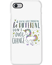 YOU'RE LUCKY ENOUGH TO BE DIFFERENT  Phone Case thumbnail