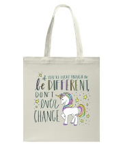 YOU'RE LUCKY ENOUGH TO BE DIFFERENT  Tote Bag thumbnail