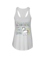 YOU'RE LUCKY ENOUGH TO BE DIFFERENT  Ladies Flowy Tank thumbnail