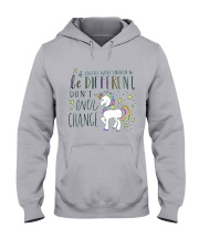 YOU'RE LUCKY ENOUGH TO BE DIFFERENT  Hooded Sweatshirt front