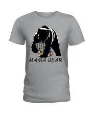 AUTISM MAMA BEAR Ladies T-Shirt thumbnail