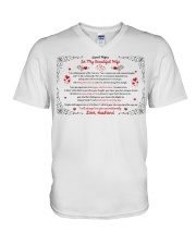 TO MY BEAUTIFUL WIFE I WILL ALWAYS LOVE YOU V-Neck T-Shirt thumbnail