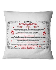 TO MY BEAUTIFUL WIFE I WILL ALWAYS LOVE YOU Square Pillowcase thumbnail