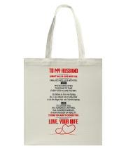 TO MY HUSBAND  Tote Bag thumbnail