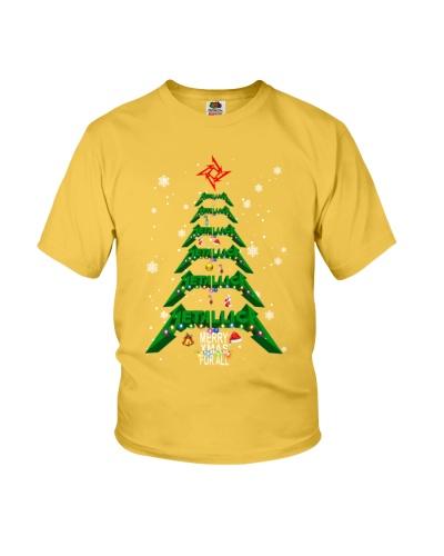 Metallica Merry Xmas For All Christmas Tree Shirt