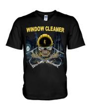 WINDOW CLEANER V-Neck T-Shirt thumbnail