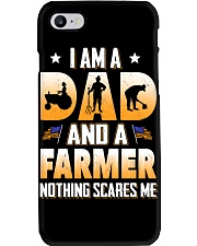 I AM A DAD AND A FARMER NOTHING SCARES ME Phone Case thumbnail