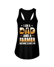 I AM A DAD AND A FARMER NOTHING SCARES ME Ladies Flowy Tank thumbnail