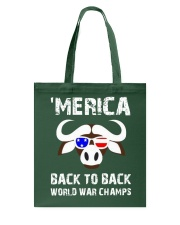 MERICA BACK TO BACK WORLD WAR CHAMPS Tote Bag thumbnail