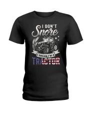 I DON'T SNORE I DREAM I'M A TRACTOR Ladies T-Shirt thumbnail