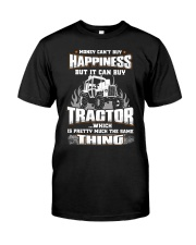 MONEY CAN'T BUY HAPPINESS BUT IT CAN BUY TRACTOR Classic T-Shirt front