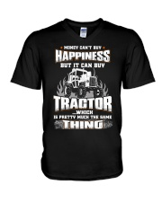 MONEY CAN'T BUY HAPPINESS BUT IT CAN BUY TRACTOR V-Neck T-Shirt thumbnail