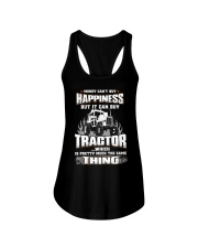 MONEY CAN'T BUY HAPPINESS BUT IT CAN BUY TRACTOR Ladies Flowy Tank thumbnail
