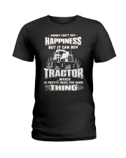 MONEY CAN'T BUY HAPPINESS BUT IT CAN BUY TRACTOR Ladies T-Shirt thumbnail