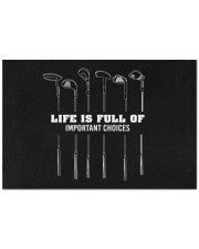 """Life Is Full Of Important Choices - Love Golf Doormat 22.5"""" x 15""""  front"""