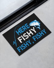"""Here Fishy Fishy Fishy Doormat 22.5"""" x 15""""  aos-doormat-22-5x15-lifestyle-front-09"""