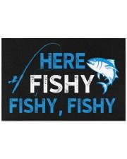 "Here Fishy Fishy Fishy Doormat 22.5"" x 15""  front"