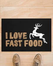 "I Love Fast Food - Love Fishing Doormat 22.5"" x 15""  aos-doormat-22-5x15-lifestyle-front-02"