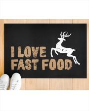 "I Love Fast Food - Love Fishing Doormat 22.5"" x 15""  aos-doormat-22-5x15-lifestyle-front-03"