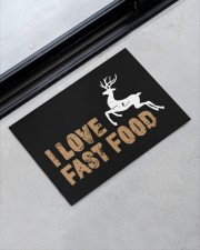 "I Love Fast Food - Love Fishing Doormat 22.5"" x 15""  aos-doormat-22-5x15-lifestyle-front-09"