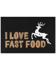 "I Love Fast Food - Love Fishing Doormat 22.5"" x 15""  front"