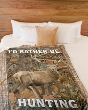 """I'd Rather Be Hunting Blanket - Love Hunting Large Fleece Blanket - 60"""" x 80"""" aos-coral-fleece-blanket-60x80-lifestyle-front-02"""